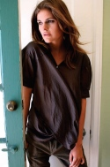 TWIST SHIRT. 100% Cotton Voile