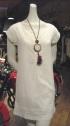 Ajoure Dress, Cotton. Argentinian Macramé