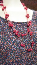 Cotton Jersey. Andean Collection Necklace