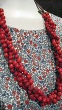 Liberty Print, Cotton. Andean Collection Necklace