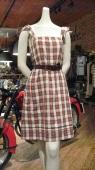 Plaid, Cotton. Vintage Leather Belt