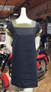 Sailor Dress. 100% Linen