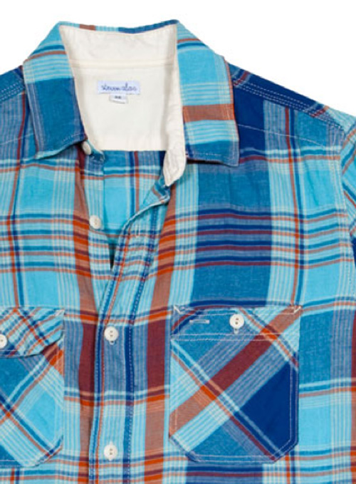 Steven Alan | Spring Vintage Workshirt | Blue/Light Blue