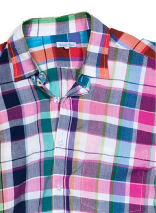 Steven Alan | Spring Reverse Seam Inside Pocket | Multicolored Madras