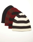 Ribber Cap Dark Brown & Burgundy