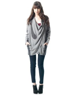 Front Zipper Cardigan