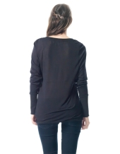 Long Sleeve U-Neck Top