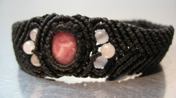 Rhodochrosite and Rose Quartz Bracelet