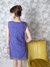 Boulevard dress purple. back