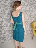 Edgewater dress blue. back