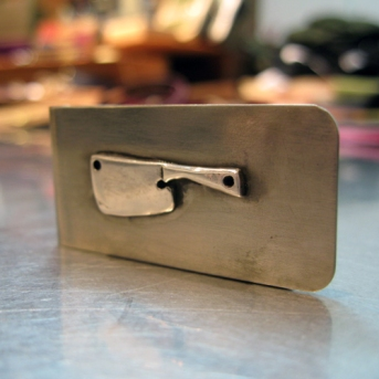 Money Clip Butcher Knife