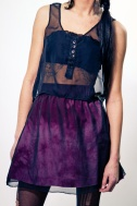 Earl Salko Burgundy Skirt with Chiffon Tank Top