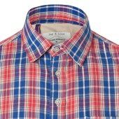 Rag & Bone Bright Red 3-4 Placket Shirt