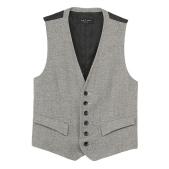 Rag & Bone Grosvenor Waistcoat - Dark Grey