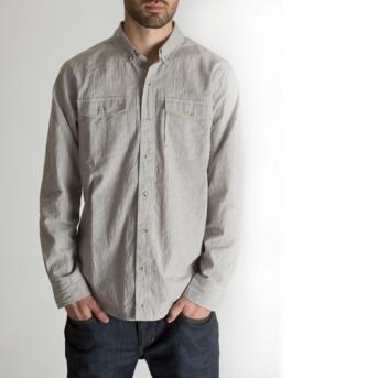BLACKMANUFACTURING® Organic BD, Japanese Stripe Shirting, Organic Cotton/Linen Blend. Made in the U.S.A.