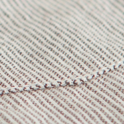 BLACKMANUFACTURING® Organic Stripe BD, Japanese Organic Cotton/Linen Blend, Made in the U.S.A.