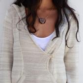 Goddis Felip hooded pullover sweater in Baja Cream