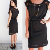 Goddis Kimi knit dress in Black