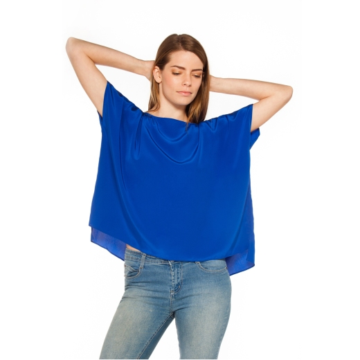Lavender Brown Boxy Top